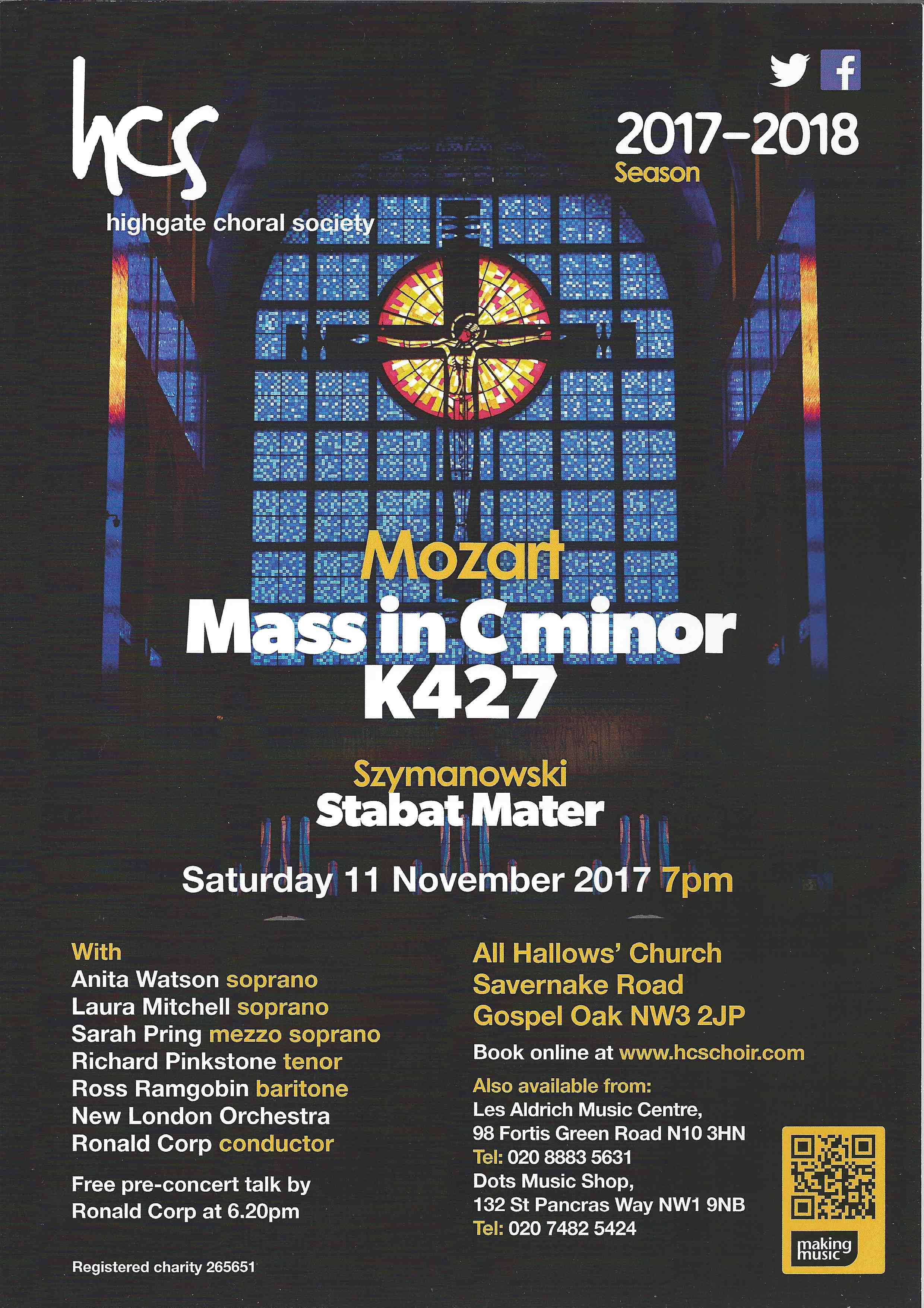 Previous concerts - The Highgate Choral Society